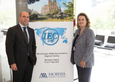 Ana Morera, Directora General de Morera, con Luís Jones, Inspector de Hacienda y Responsable de Fiscalidad Internacional.