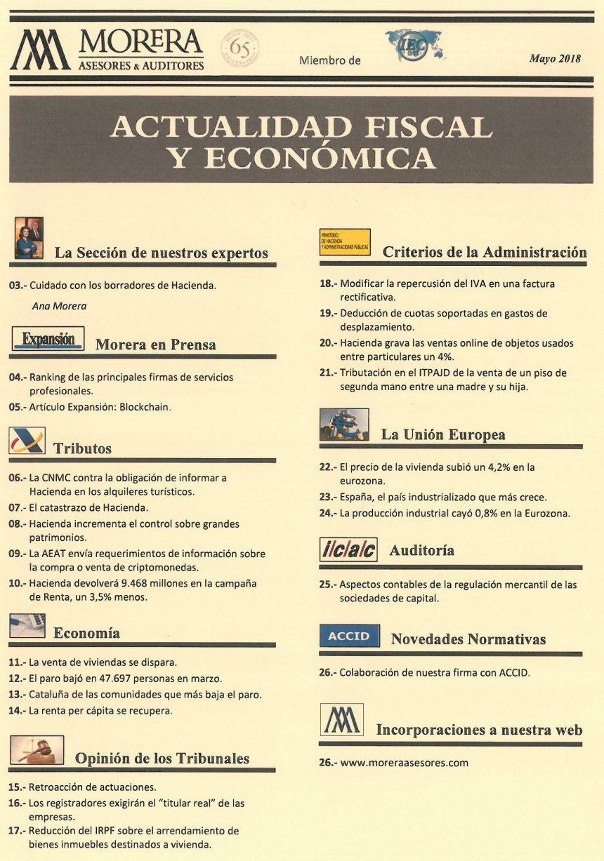 Revista Mayo-18 Morera Bargues Asesores