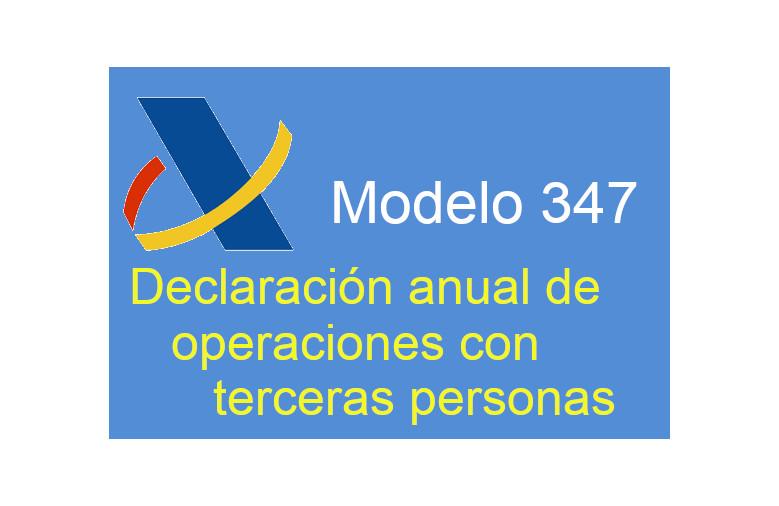 El modelo 347 volverá a presentarse durante el mes de febrero