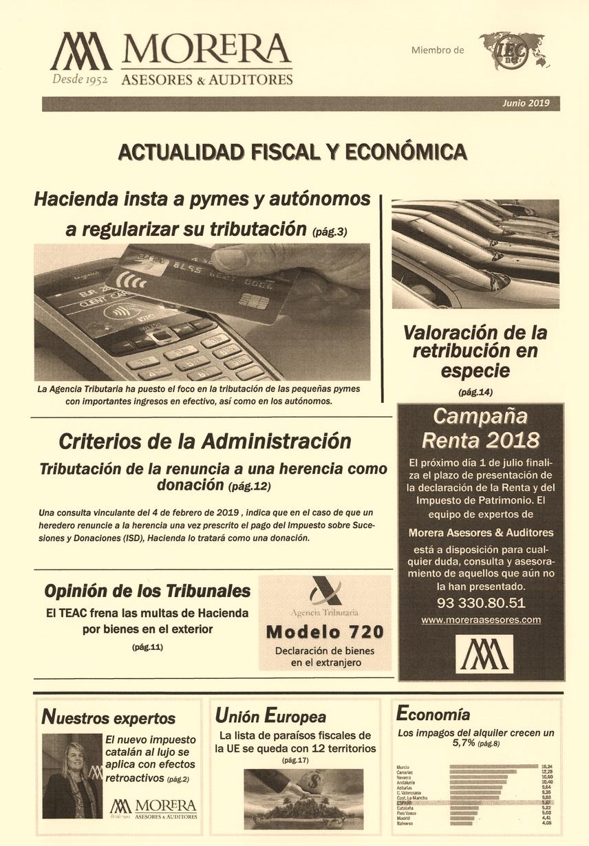 Revista Morera Asesores & Auditores Junio 2019