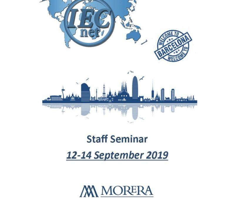 Morera Asesores & Auditores organiza el Staff Seminar de IECnet en Barcelona